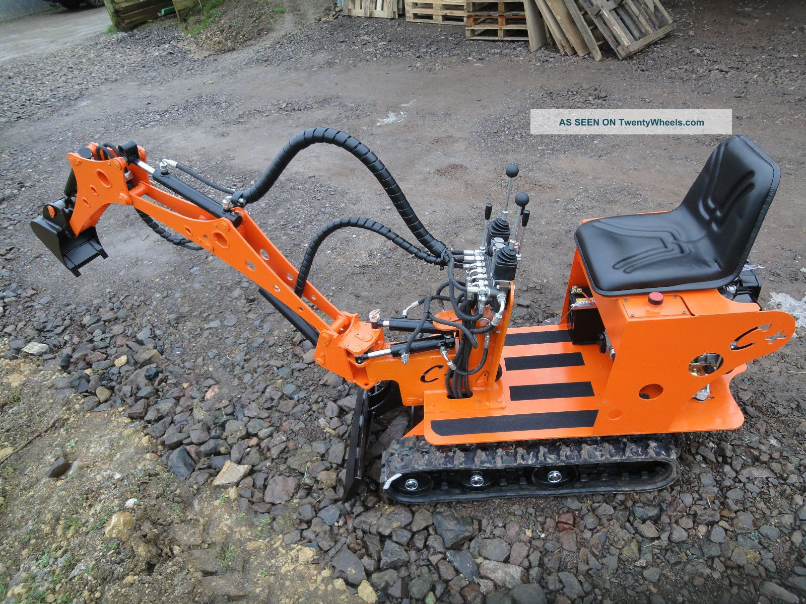 Micro mini digger excavator quot la sauterelle quot in kit to us ports