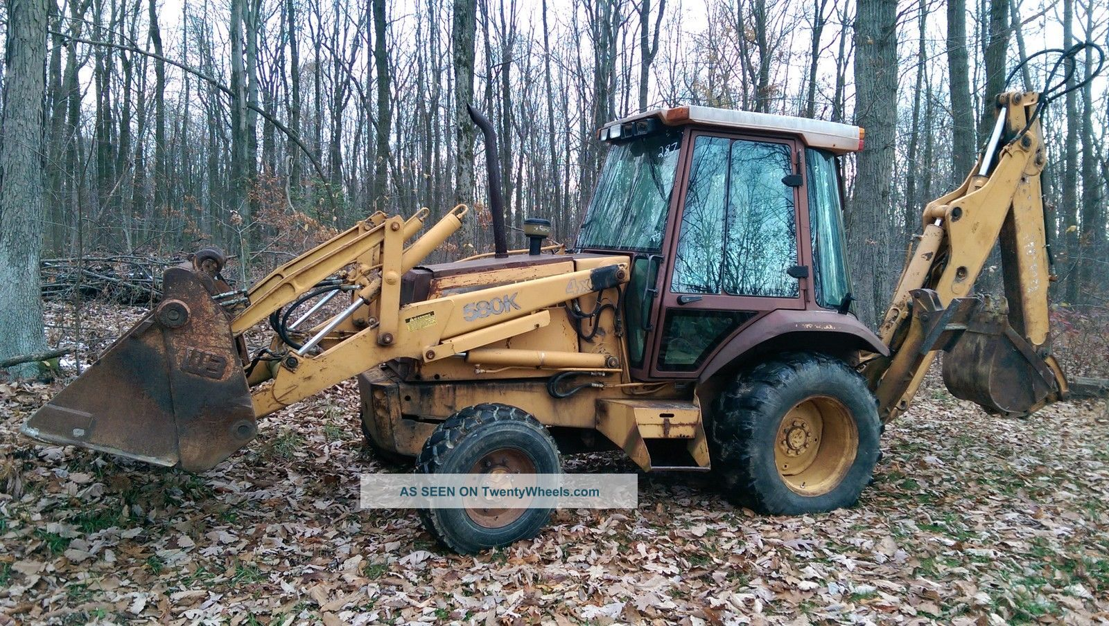 4x4 Case 580k Backhoe With Enclosed Cab With Heat - Extendahoe - Clam Bucket Backhoe Loaders photo