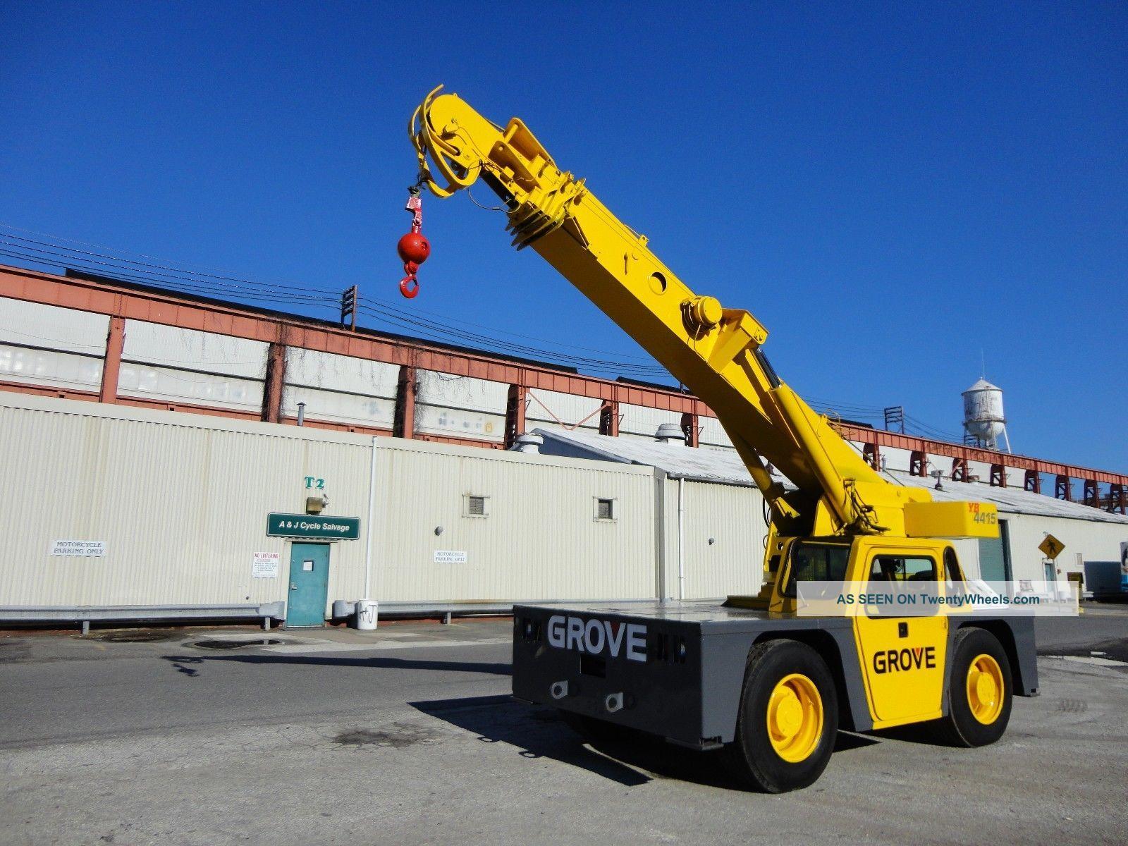 Tractor Hydraulic Boom Crane : Grove yb ton carry deck hydraulic crane diesel