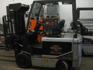 2007 Nissan 60 Electric Forklift - Quad Mast - 252