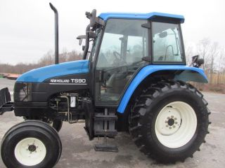 Ford Holland Ts90 Diesel Farm Tractor With Cab Tractor photo