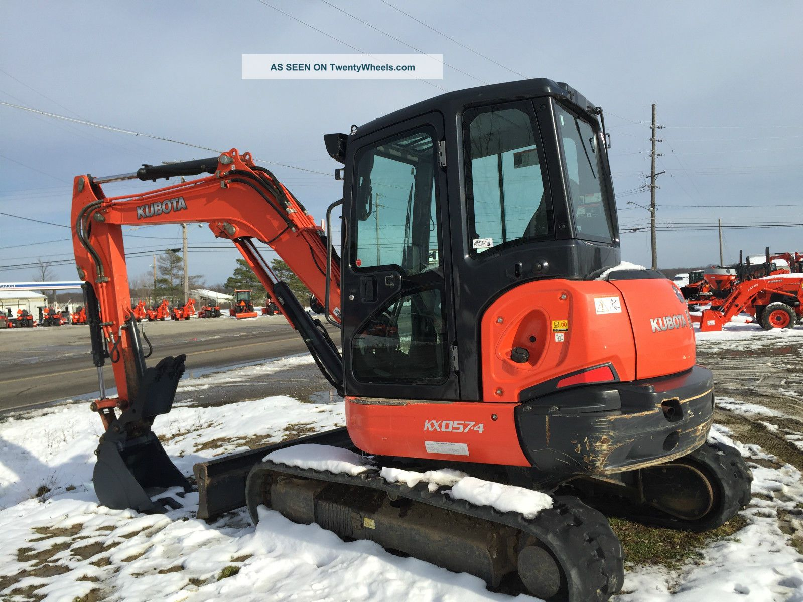 Kubota Kx 057 Excavator Loaded
