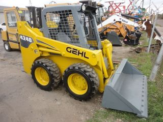 2009 Gehl 4240 Skid Steer Yanmar 46hp 997 Hours 3rd Valve Quick Gp Bucket 05593 photo