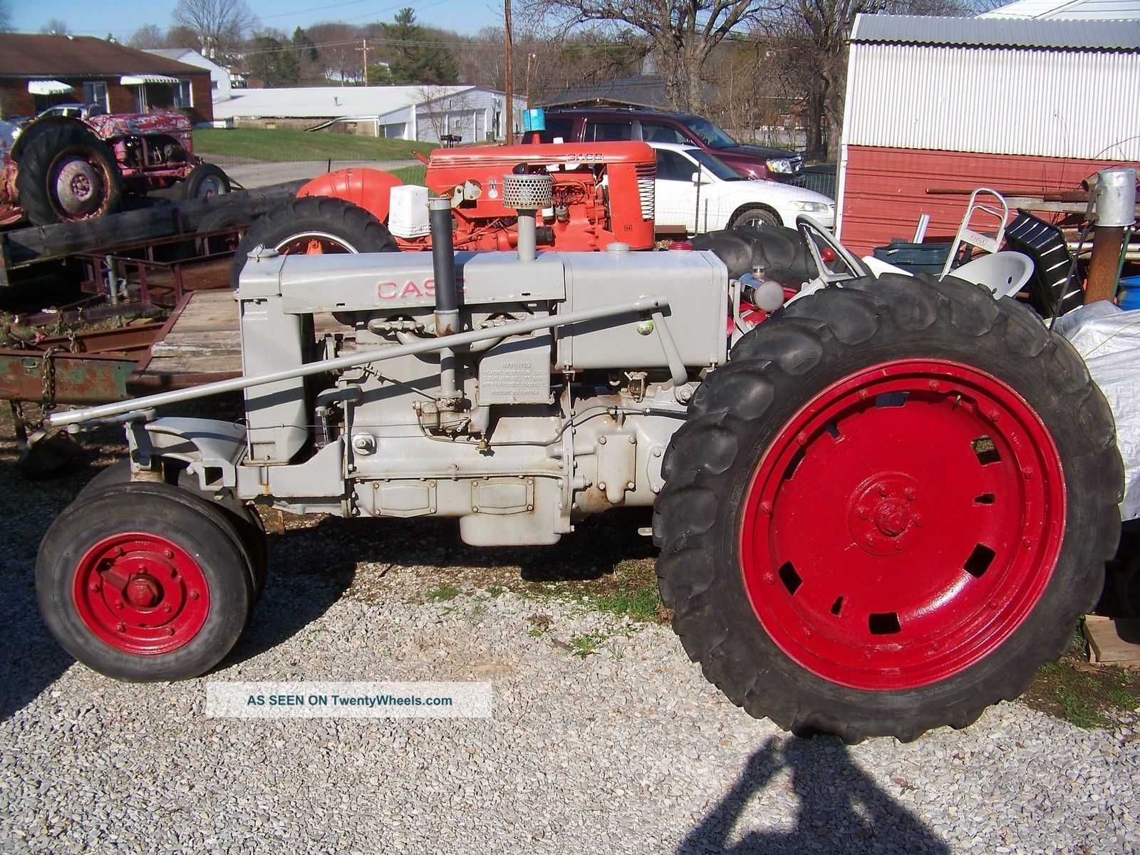 Case Gas Tractor : Case cc farm tractor gas engine pulling plowing