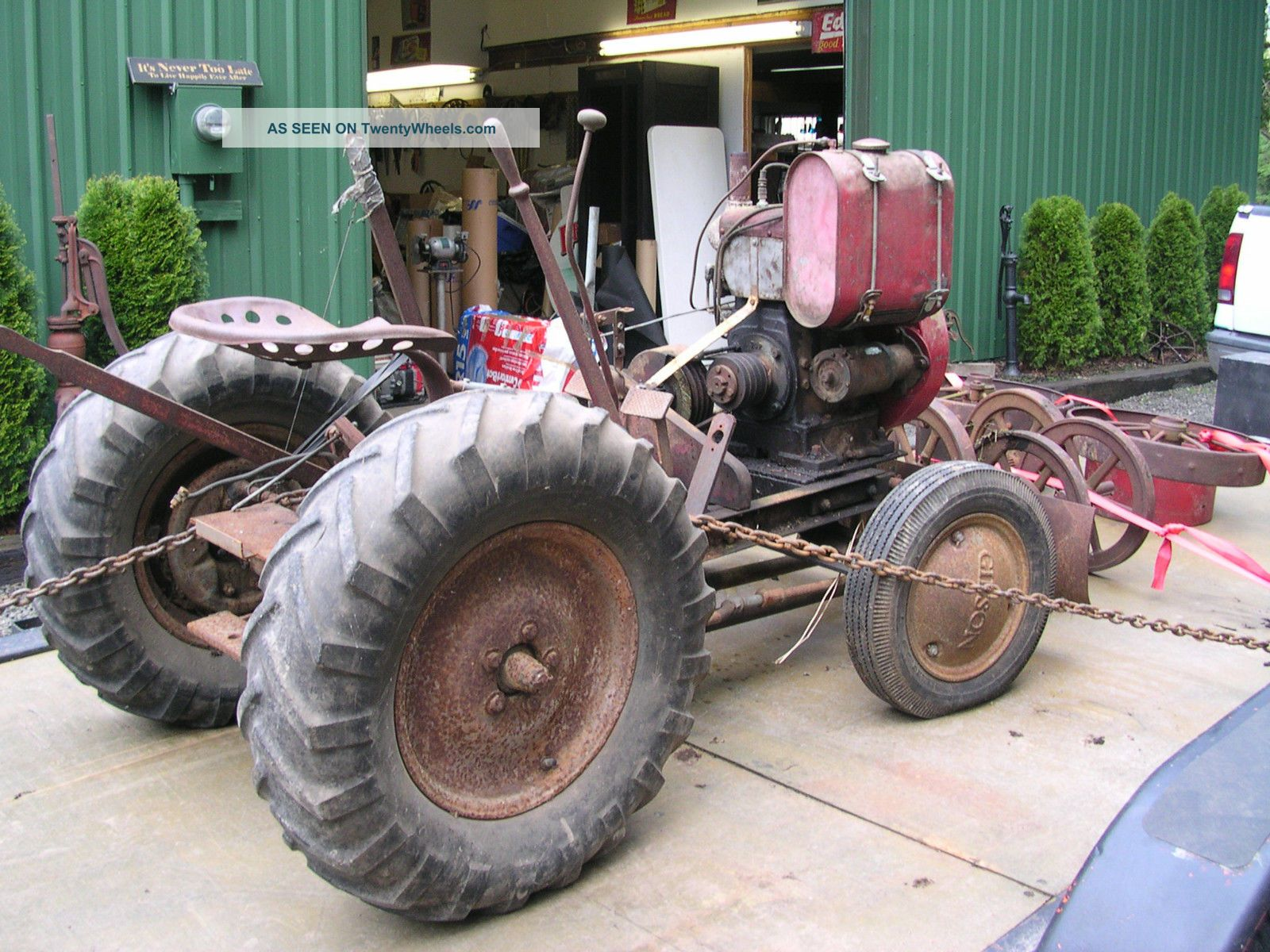 Tractor Supply Motor : Antique vintage gibson garden tractor with wisconsin engine