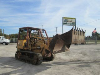 1986 Case 855d Crawler/loader W/ 4&1 Bucket photo