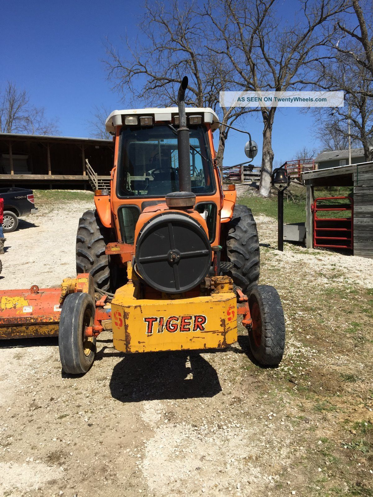 Side Picture Of Tractor : Ford holland diesel cab tractor side mower flail