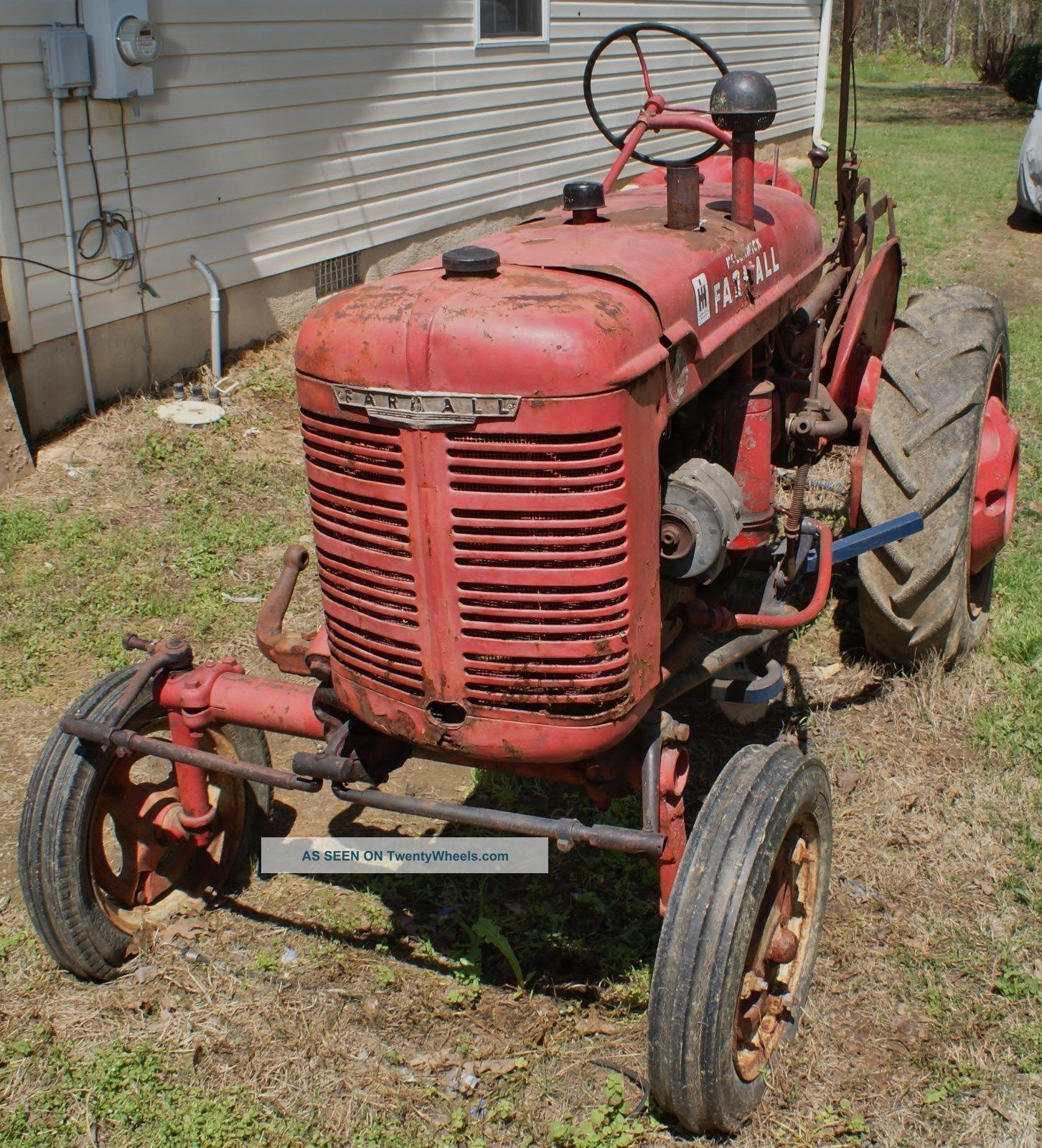 Farmall Tractor Plows : Mccormick international farmall a with cultivators