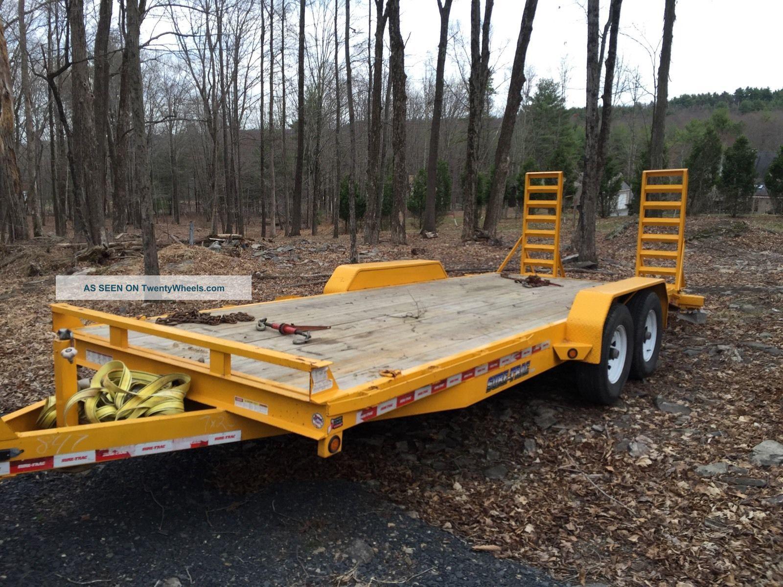Heavy Equipment Trailer : Sure trac equipment trailer