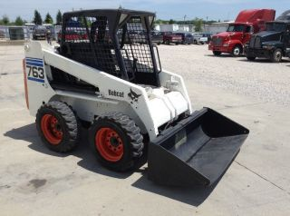 2000 Bobcat 763 Skid Steer,  46 Hp,  3,  000 Lb Capacity,  3,  404 Hours photo