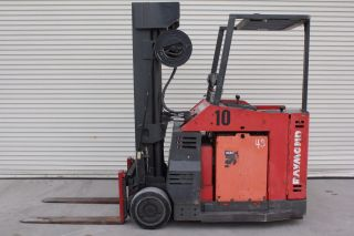 1996 Raymond Electric Forklift 36v 4500 Lbs 4 Stage Mast High Reach photo