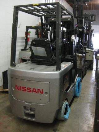 Nissan 60 - 6,  000 Lbs - Model: Chassis Only - Electric Forklift - Quad Mast - 252 Max photo