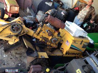 Vermeer Sc252 Auto Sweep 4 Wheel Stump Grinder Rebuilt Engine Clutch photo