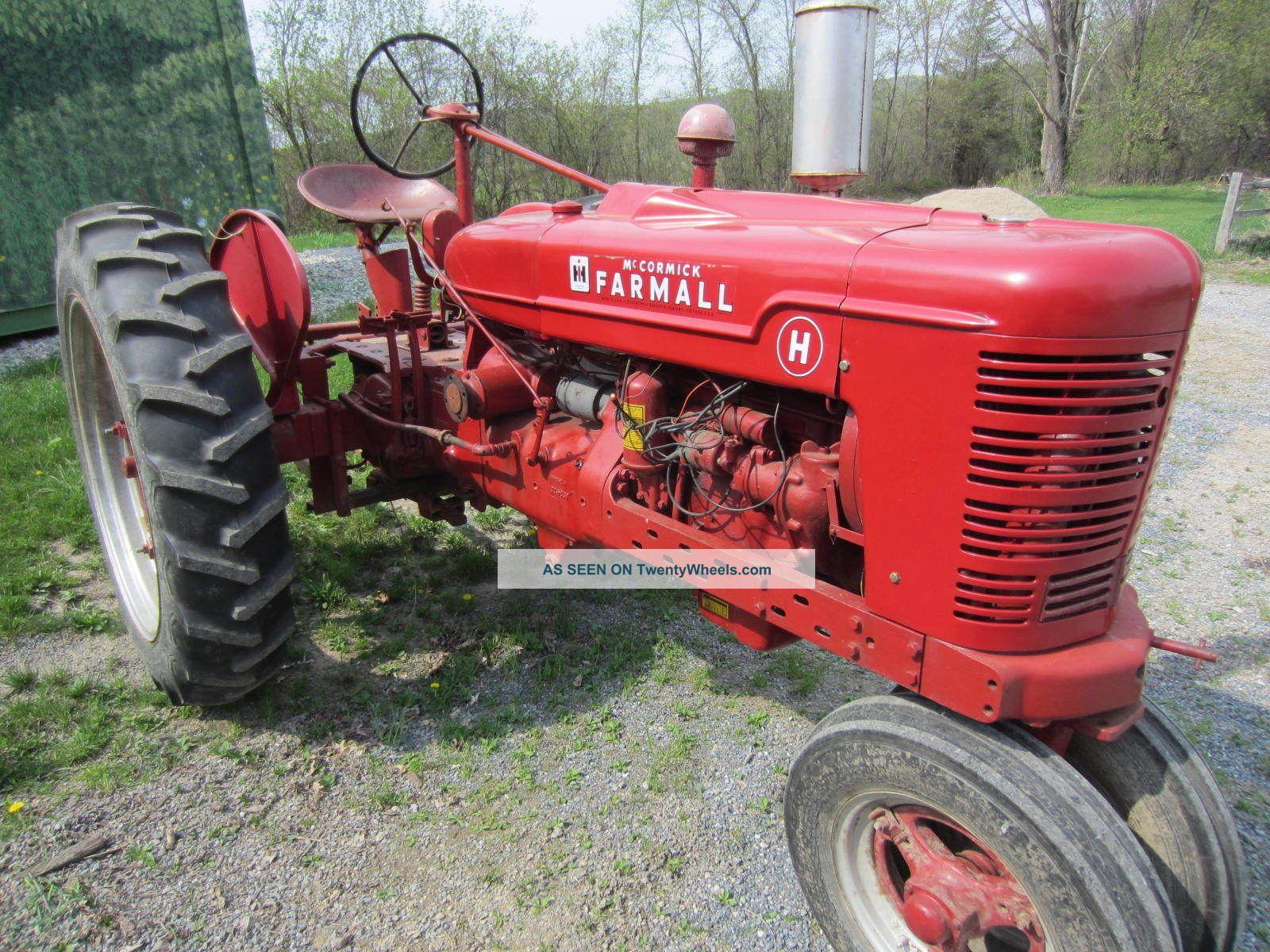 Farmall Tractor Models : Farmall tractor model h