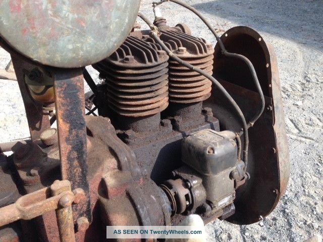 Antique Standard Twin Walk Behind Garden Tractor Good Compression No