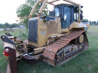 1998 Caterpillar D5mxl Cab Bulldozer With 6 Way Blade photo