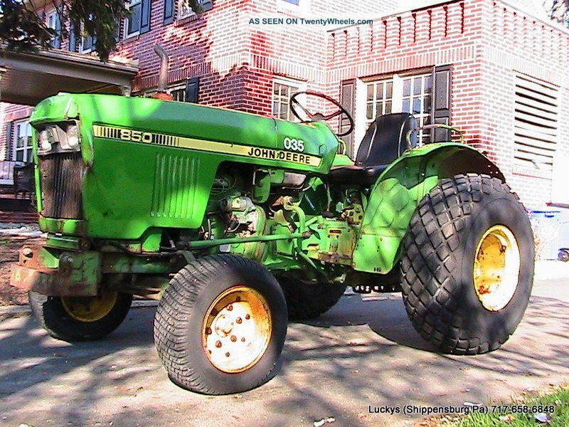 John Deere 850 Diesel Tractor : John deere tractor diesel wd hp yanmar