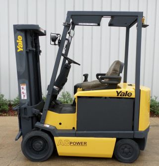 Yale Model Erc060gh (2006) 6000lbs Capacity Great 4 Wheel Electric Forklift photo