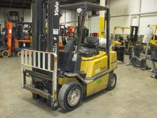2004 Yale Glp050.  5000 Lb Pneumatic Tire Forklift.  Lp Gas Engine.  6663 Hours photo