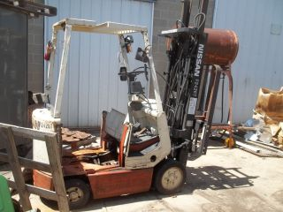 1998 Nissan Cumo1l15s 3000 Lb Electric Forklift With Damage photo