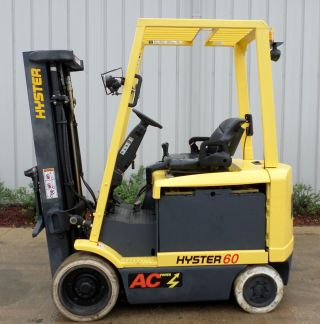 Hyster Model E60z - 33 (2007) 6000lbs Capacity Great 4 Wheel Electric Forklift photo