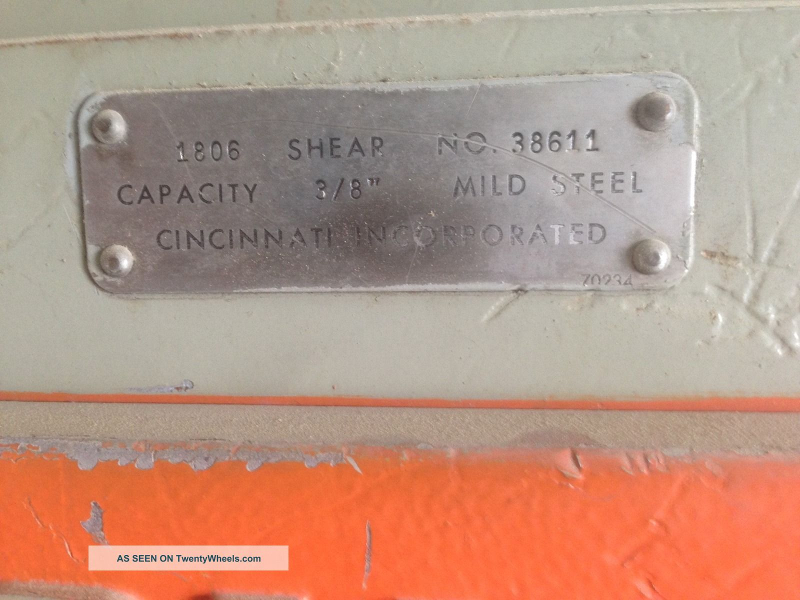 Cincinnati 1806 Mechanical Power Squaring Shear 6 X 3 8