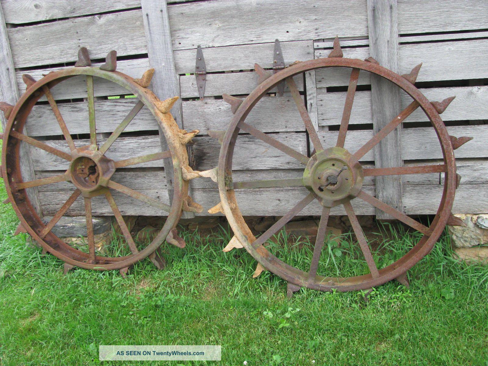 Old Metal Wheels With Tractor : John deere b unstyled steel wheels