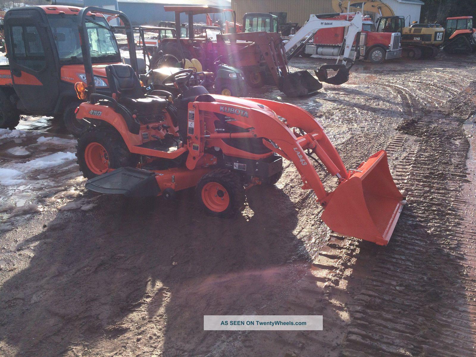 Kubota Tractor Tires R4 : Kubota bx tractor loader belly mower r