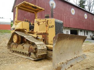Caterpillar D4h High Track One Owner Cat D4 Dozer Crawler 6 Way Blade photo