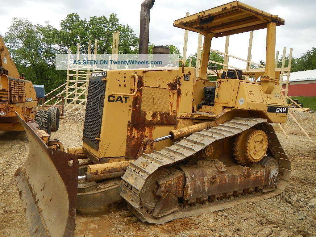 Caterpillar D4h High Track One Owner Cat D4 Dozer Crawler 6