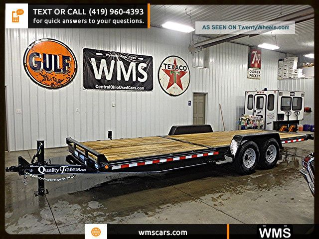 2015 Quality Pro Series Split Deck Equipment Trailer 15,  000 Gvwr 23.  5 Feet Wms Other Construction photo