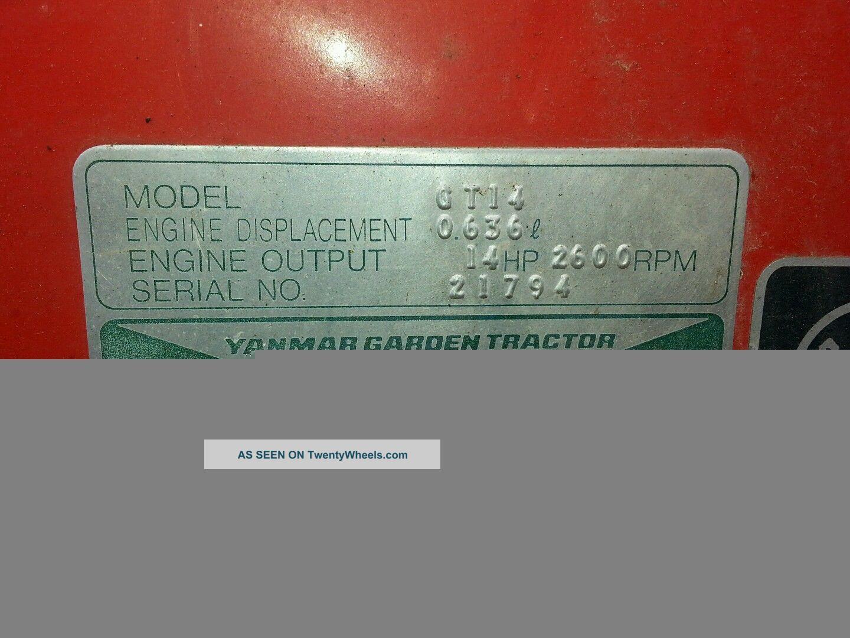 Yanmar Gt14 2wd Lawn Tractor