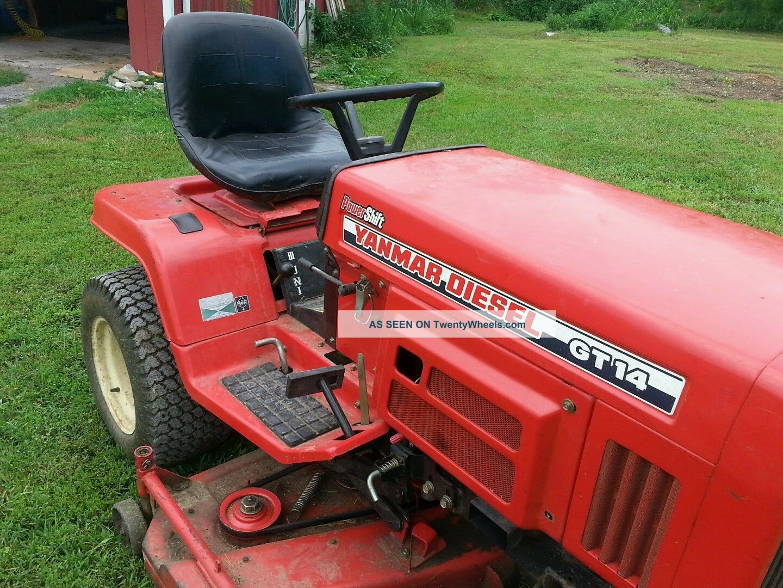 Yanmar Tractor 2 Wheel : Yanmar gt wd lawn tractor
