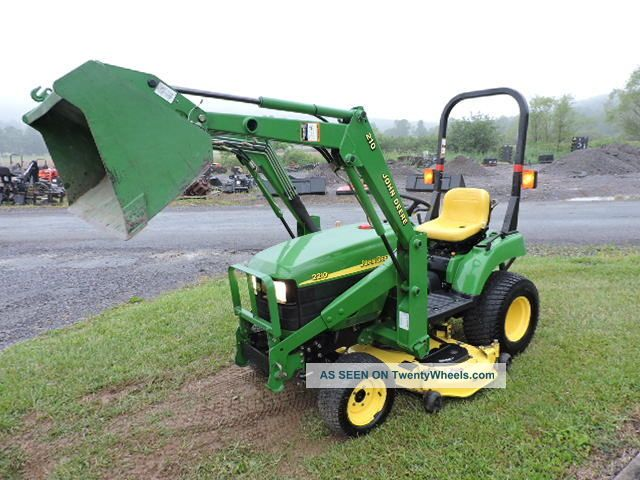 Small Tractors With Pto : John deere compact tractor loader quot belly
