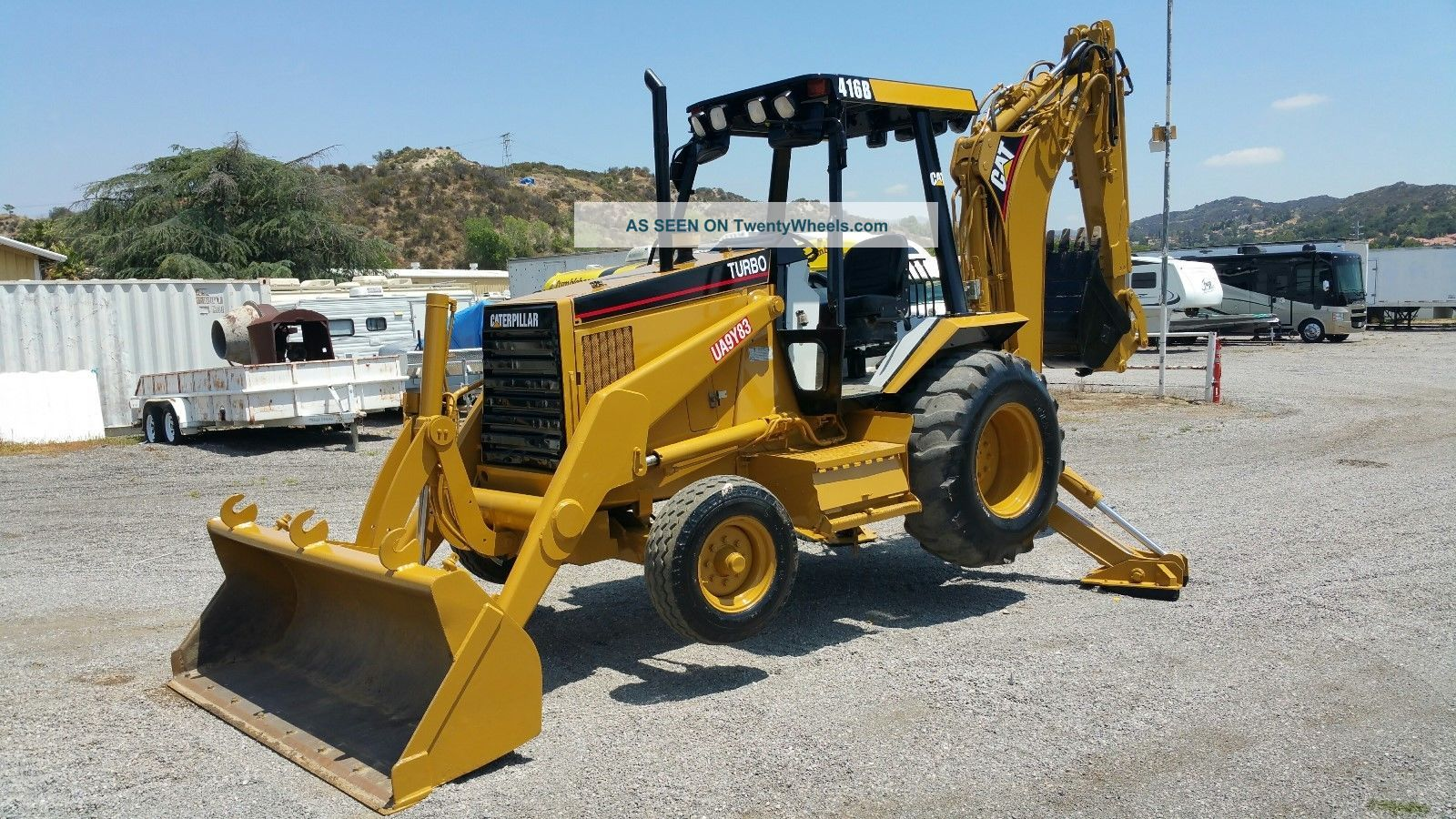 Cat 416b Cat Diesel 77 Hp Power Extended Hoe,  Diff Lock,  Very Ex Ca City Backhoe Loaders photo