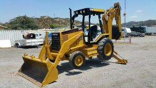 Cat 416b Cat Diesel 77 Hp Power Extended Hoe,  Diff Lock,  Very Ex Ca City photo
