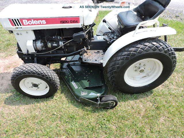 Iseki Tractor Tire Rims : Bolens iseki g compact tractor quot belly mower