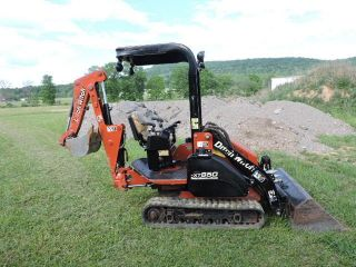 2006 Ditch Witch Xt850 Mini Skid Steer Backhoe Excavator Rubber Track Skid Steer photo