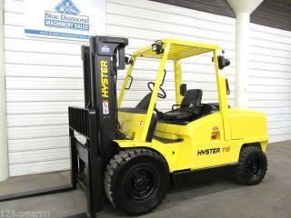 2003 Hyster H110xm,  11,  000 Lb Diesel Forklift,  Triple,  Sideshift,  3,  200 Hours photo