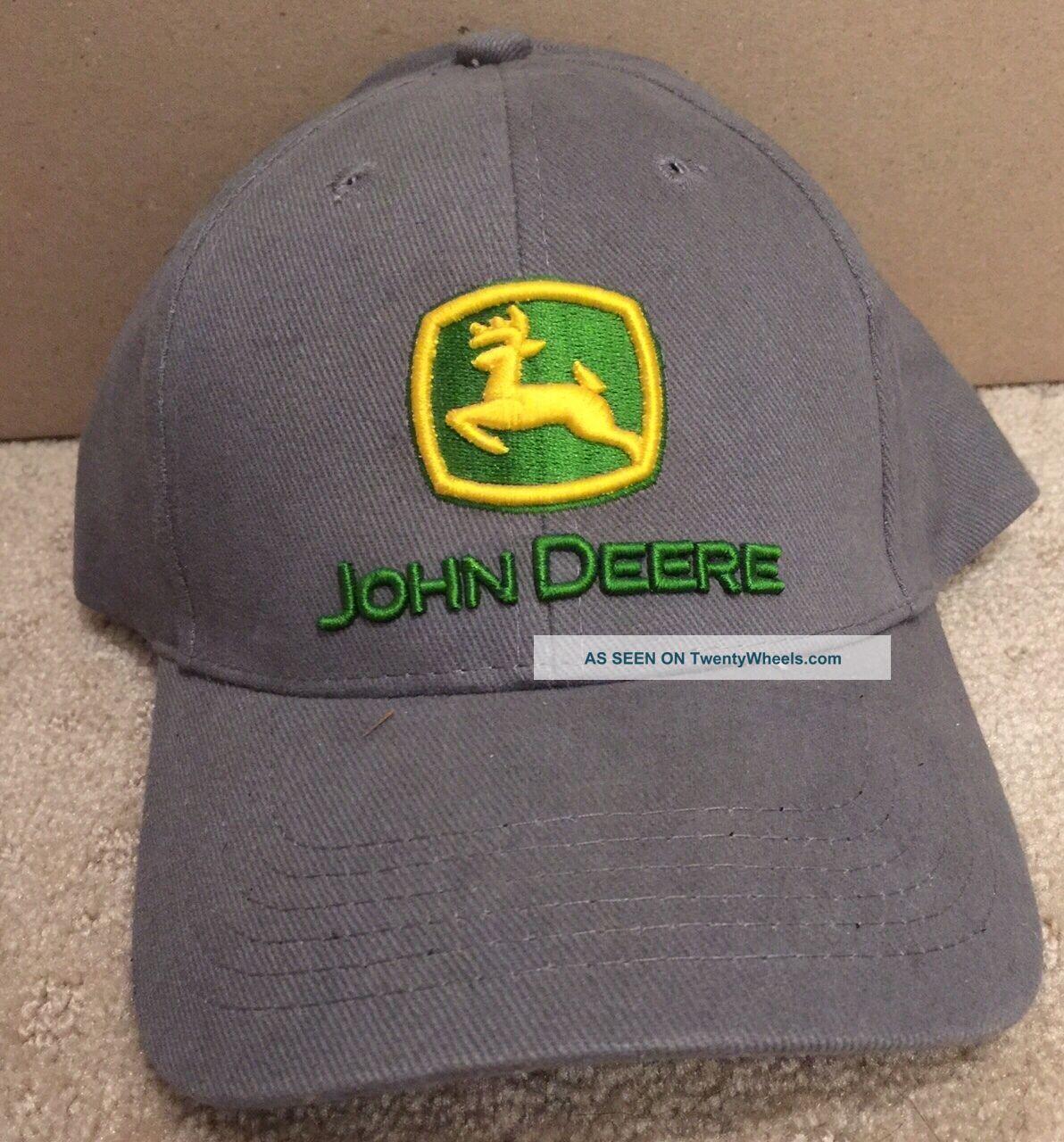 John Deere Baseball Cap Hat Grey Uncategorized photo
