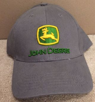 John Deere Baseball Cap Hat Grey photo