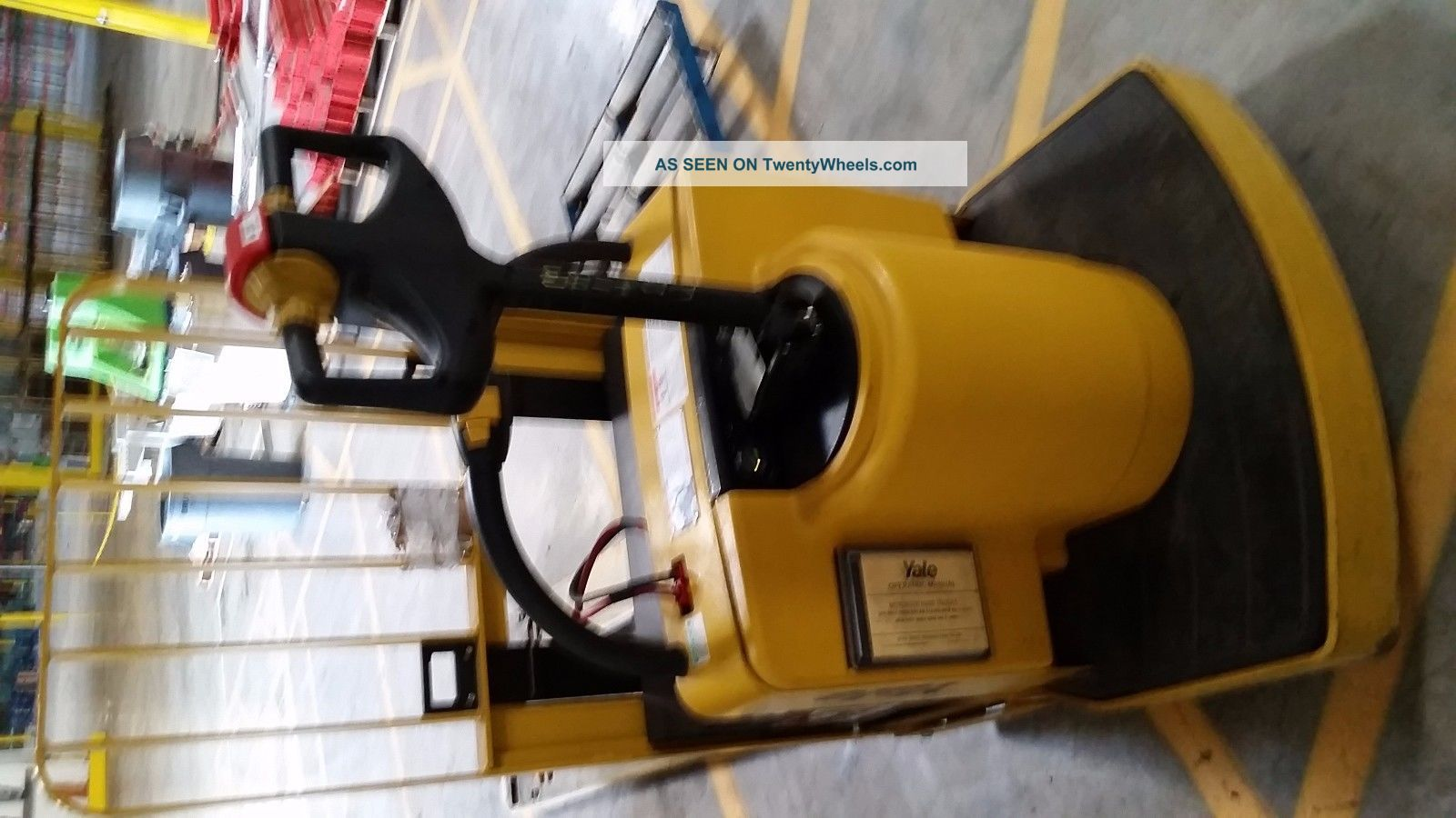 Yale 2 Speed Ride On Pallet Jack W 8ft Forks With 24