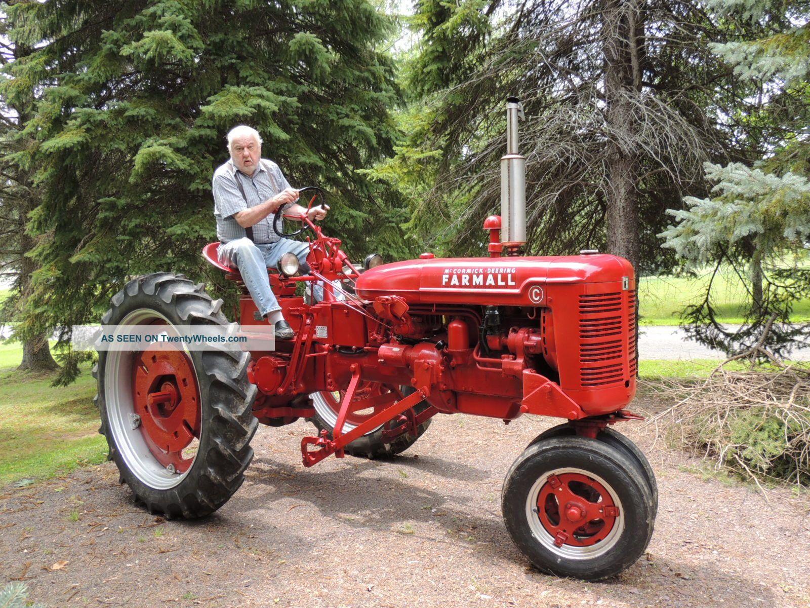 Farmall C Tractor : Farmall c tractor w right side cutter and l r plow