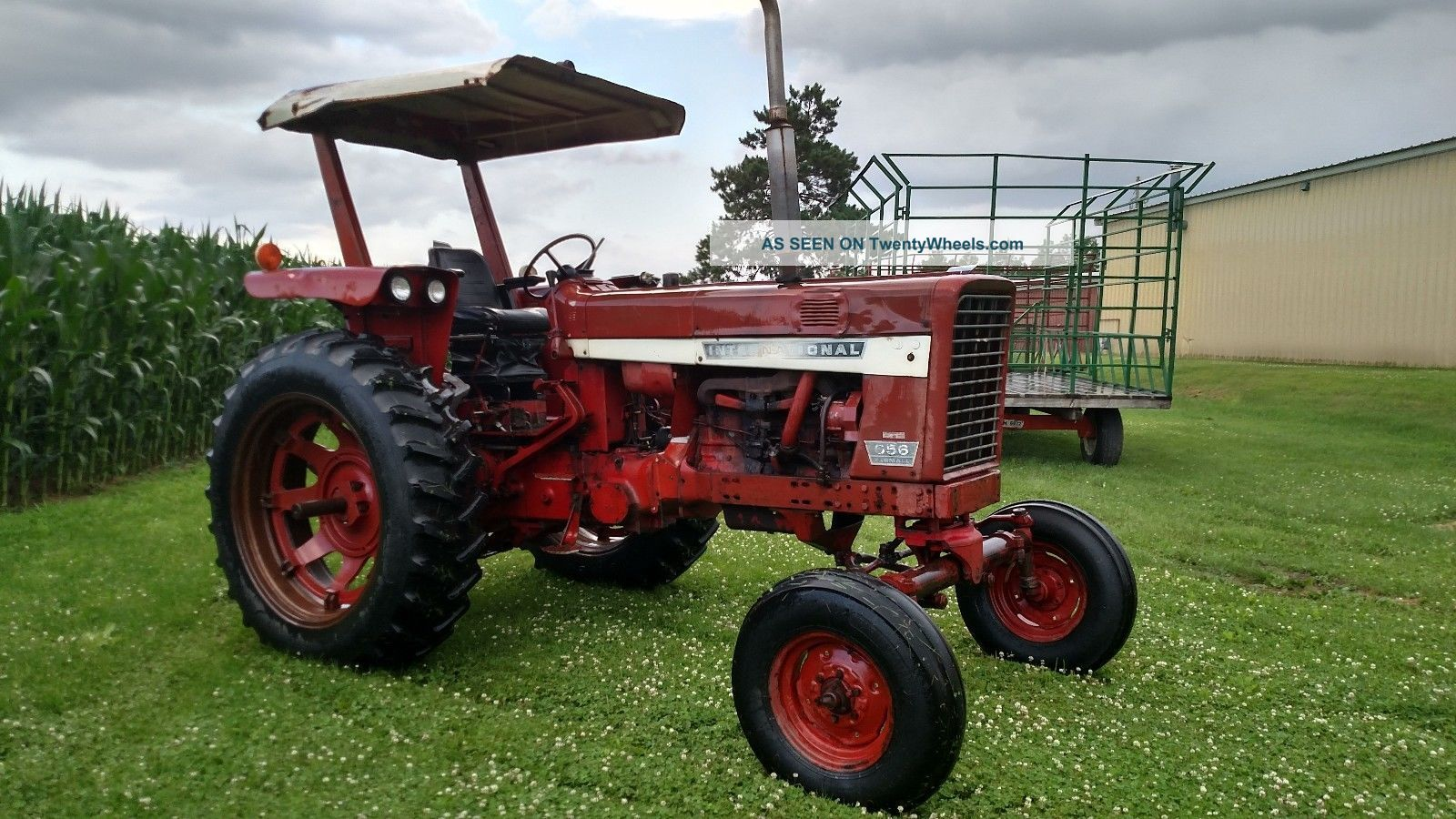 International 656 Tractor With Loader : Ih farmall gas tractor