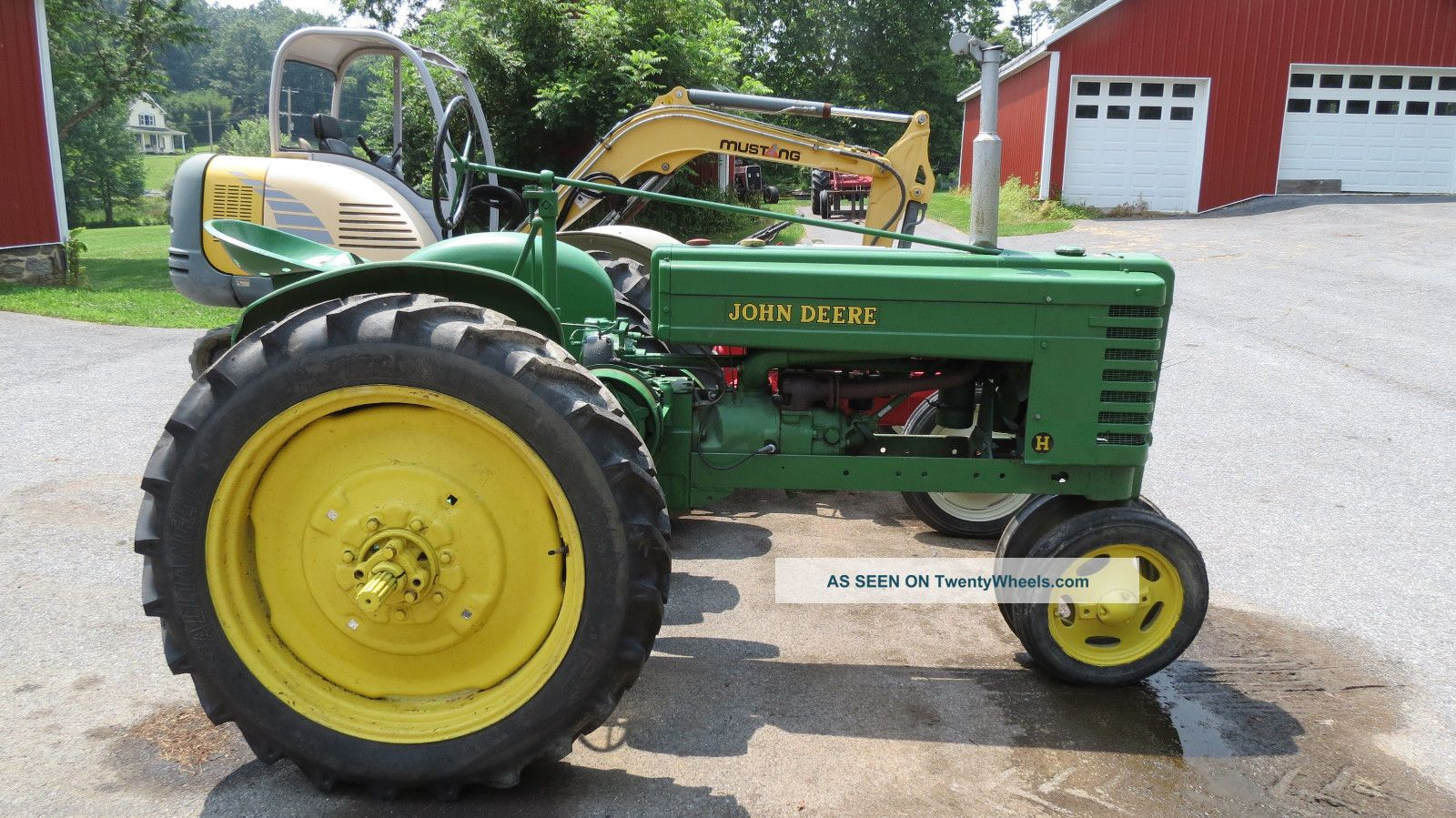 Tractor Supply Fenders : Antique john deere h two cylinder gas tractor pto