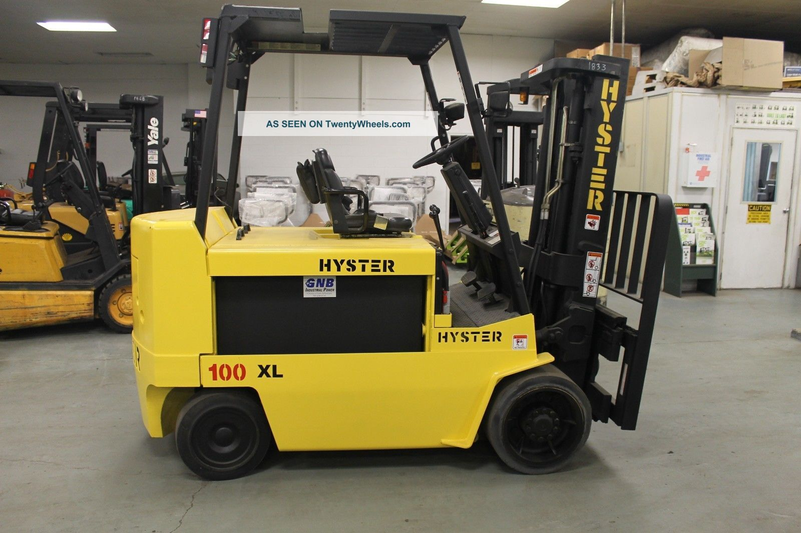 Reconditioned 1998 Hyster E100xl2s 10000lb Electric Forklift With Sideshift Forklifts photo