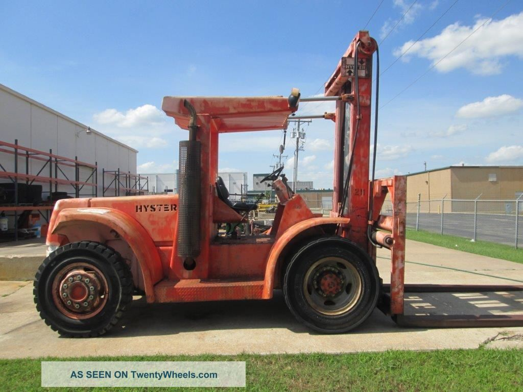 Hyster 20,  000 Lbs Pneumatic Tire Forklift / Container Handler 1588 Hours Forklifts photo