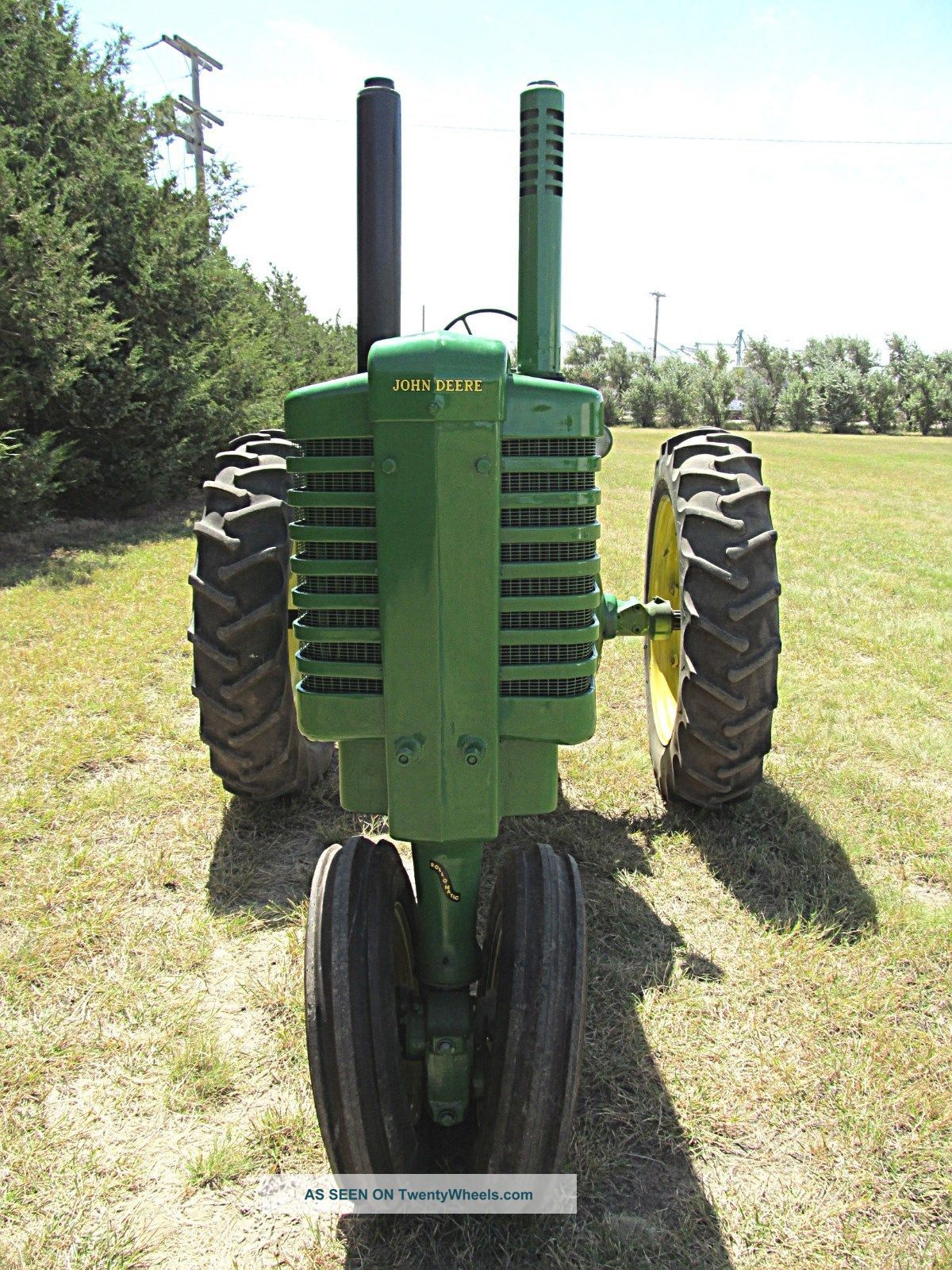 Restored Antique Tractors : Vintage antique john deere g good running restored