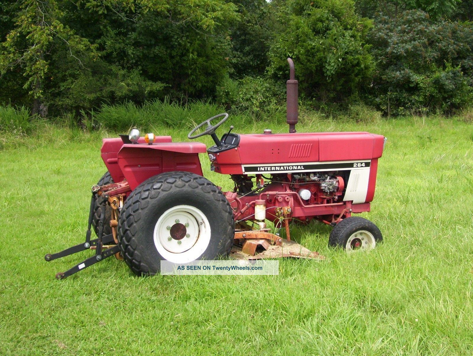 International Harvester 284 Tractor : International harvester model compact tractor
