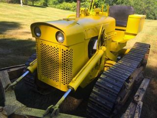 Oliver Tractor,  Oc4 Crawler Tractor With Dozer Blade photo